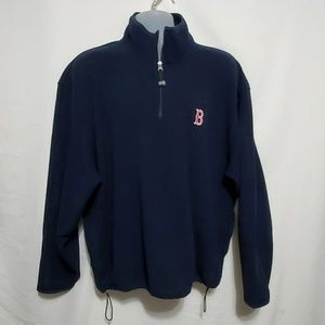 ANTIGUA REDSOX FLEECE MENS SIZE XL EUC NAVY BLUE